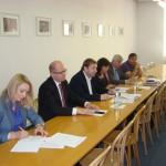 Delegace ČSSD - JUDr. Lenka Teska Arnoštová, Ph.D., Mgr. Bohuslav Sobotka, Roman Sklenák, Michaela Marksová, ing. Martin Starec a Karel Březina