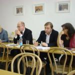 JUDr. Lenka Teska Arnoštová, Ph.D., Mgr. Bohuslav Sobotka, Roman Sklenák a Michaela Marksová během jednání